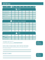 """""""Domestic Worker's Weekly Work Schedule Template - My Fair Home"""", Page 2"""