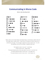 Morse Code Decoding Sheet - Australia