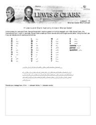 """Morse Code Worksheet - Lewis & Clark"""