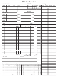 Water Polo Scoresheet Template
