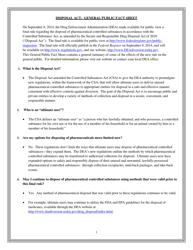 """Disposal Act: General Public Fact Sheet"""