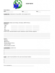 Soap Note Template - Amc
