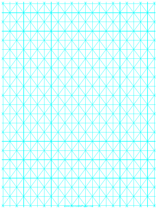 """Cyan Hypometric Grid Paper Template"" Download Pdf"