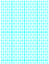 Cyan Hypometric Grid Paper Template
