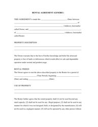 """Rental Agreement (Generic) Template"""