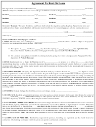 Agreement Template to Rent or Lease - California