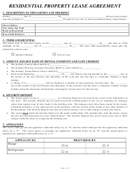 """Residential Property Lease Agreement Form"""