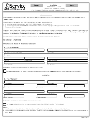 "Form 6 ""Residential Lease (Standard Form of Lease)"" - New Brunswick, Canada"