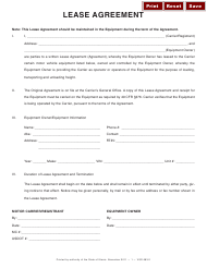 Equipment Lease Agreement Form - Illinois