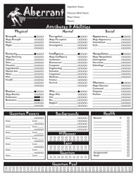 Aberrant Character Sheet