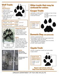 """Wolf Track Identification Form"" - Oregon"