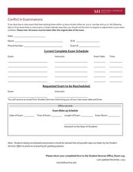 """Conflict in Examination Form - Mitchell Hamline School of Law"""