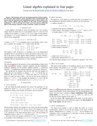 Linear Algebra Cheat Sheet