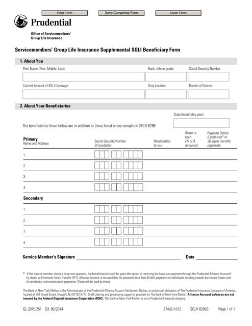 Form SGLV8286S Printable Pdf