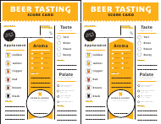 """""""Beer Tasting Score Card Template"""""""