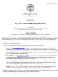 "Form UCC3 ""Ucc Financing Statement Amendment"" - Tennessee"