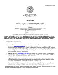 "Form UCC3 ""Ucc Financing Statement Amendment"" - Tennessee"