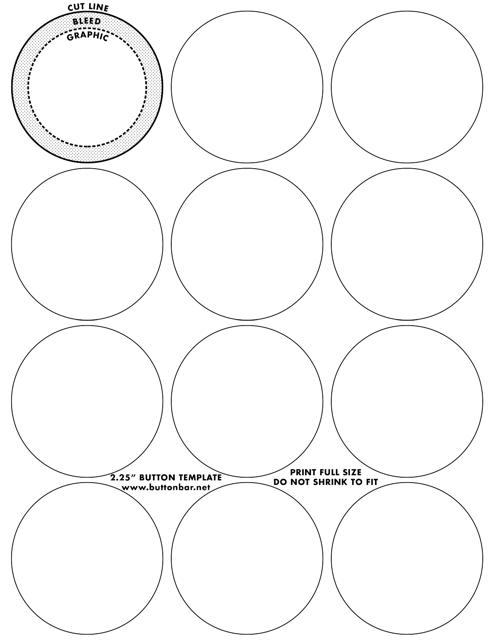 inch button templates download printable pdf. Black Bedroom Furniture Sets. Home Design Ideas