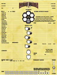 """Deadlands Character Sheet"""