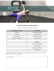 """""""The Get up Workout Tracking Sheet Template - Kettlebell Clinic"""""""