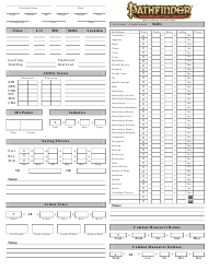 """Pathfinder Custom Character Sheet"""