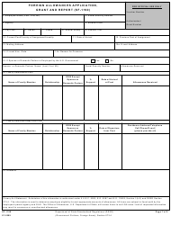 "Form SF-1190 ""Foreign Allowances Application, Grant and Report"""