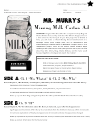 """Milk Carton Template - Mr. Murry's"""