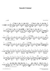 """Alien Ant Farm - Smooth Criminal Drum Sheet Music"""