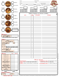 """Legend of the Five Rings Third Edition Character Sheet"""