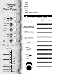 """Legend of the Five Rings Character Sheet"""