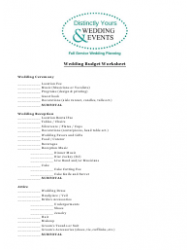 Wedding Budget Spreadsheet Template - Distinctly Yours Wedding and Events