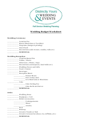 """Wedding Budget Spreadsheet Template - Distinctly Yours Wedding and Events"""