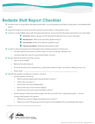 """Bedside Shift Report Checklist"""