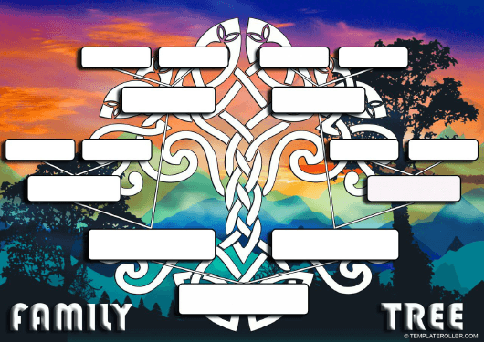 Blank family tree template download printable pdf templateroller blank family tree template download pdf maxwellsz