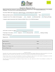 Vacation Request Form - Otsego County, Michigan