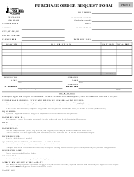 """Purchase Order Request Form - St John Fisher Collage"""