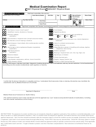 """Medical Examination Report Template"""
