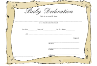 """Baby Dedication Certificate Template"""
