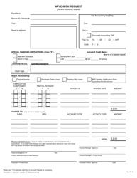 Wpi Check Request Form