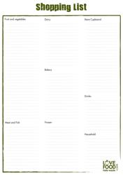 Shopping List Template