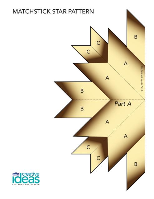 """Matchstick Star Pattern Template"" Download Pdf"