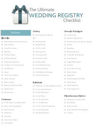 The Ultimate Wedding Registry Checklist Template