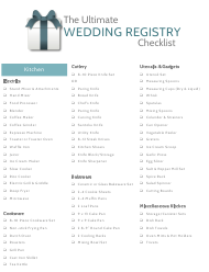 """The Ultimate Wedding Registry Checklist Template"""