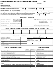 """Business Income & Expense Worksheet"""