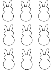 """Easter Bunny Shape Templates"""