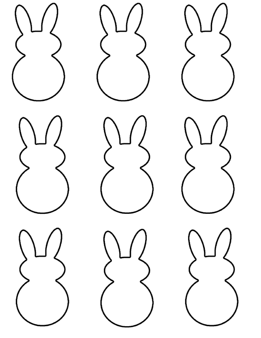 """Easter Bunny Shape Templates"" Download Pdf"