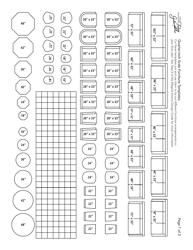 Quarter Inch Scale Furniture Templates