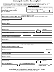 """New Hire Reporting Form - West Virginia New Hire Reporting Center"" - West Virginia"