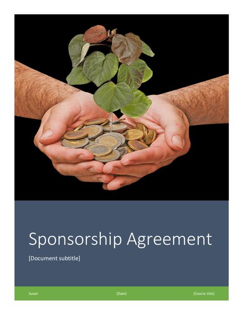"""Event Sponsorship Agreement Template"" Download Pdf"