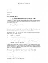 Sample Notice Of Suspension Of Employment On Full Pay